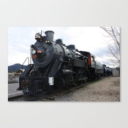Vintage Railroad Steam Train Canvas Print