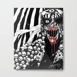 Lucha Libre Pentagon Jr. Skulls Metal Print