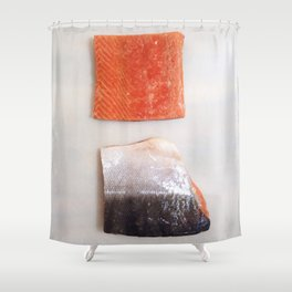 Healthy Fats | Wild-Caught Salmon Shower Curtain