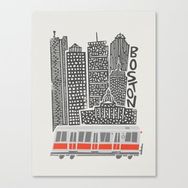 Boston City Illustration Canvas Print