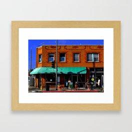 abbot kinney street Framed Art Print