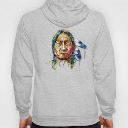 Sitting Bull watercolor painting Hoody