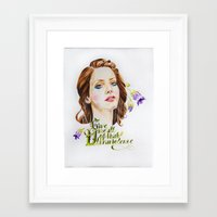 ultraviolence Framed Art Prints featuring Ultraviolence by eleidiel