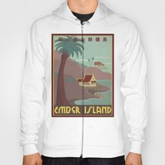 Ember Island Travel Poster Hoody