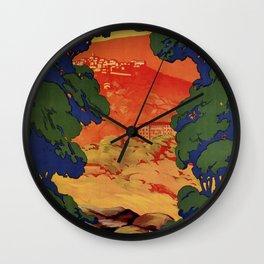 Vintage Italian travel Fiuggi springs Wall Clock