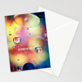 don't let me fade Stationery Cards