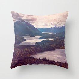 Lake in the mountains Throw Pillow
