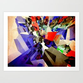 Colorful Abstract Geometric Cluster Art Print