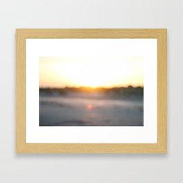 """Dusk at Tybee Island, Georgia"" by Simple Stylings Framed Art Print"