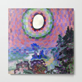 "Robert Delaunay ""Paysage au disque solaire"" Metal Print"