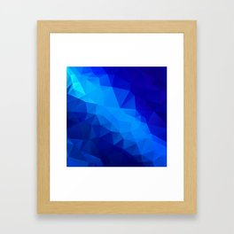 Abstract digital art polygon triangles Framed Art Print