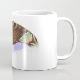 badger meets bear in the snow Coffee Mug