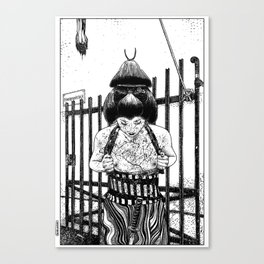 asc 589 - La maison close (No trespassing) Canvas Print