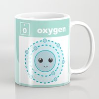 periodic table Mugs featuring Periodic Table of Cute Elements -- Oxygen by Grace T