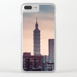 Taipei Skyline Clear iPhone Case