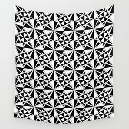 black and white symetric patterns 4- bw, mandala,geometric,rosace,harmony,star,symmetry Wall Tapestry