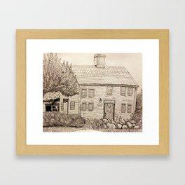 Lt. Job Lane House, Bedford, MA Framed Art Print