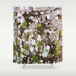 437 - Abstract Lichen Design Shower Curtain