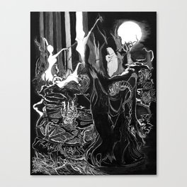 Demon Ritual Canvas Print
