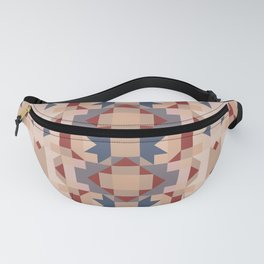 tumbleweed and chestnut colors retro geometric pattern Fanny Pack