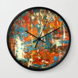 An Oasis In A Desert Abstract Painting Wall Clock