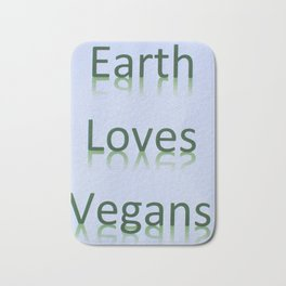 Earth Loves Vegans Bath Mat