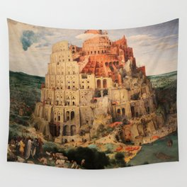 The Tower of Babel by Pieter Bruegel the Elder Wall Tapestry