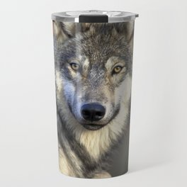 Wolf in the Woods Hunting Travel Mug