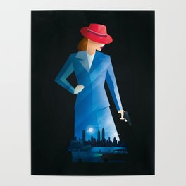 Agent Carter Time and Tide T-Shirt Poster