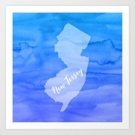 Sweet Home New Jersey Art Print
