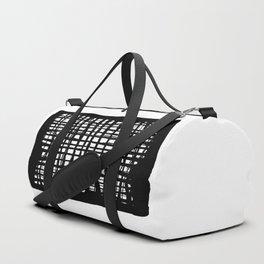 black and white screen Duffle Bag