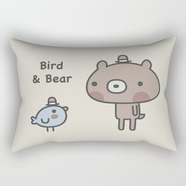 Bird & Bear Rectangular Pillow