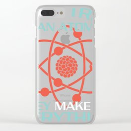 physics physicist gift atom body time Clear iPhone Case