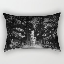 BLACK&WHITE ART - fountain , spain , spanish , water , spring Rectangular Pillow