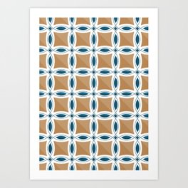 Circles with lens pattern and Diamond Art Print