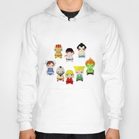 street fighter Hoodies featuring A Boy - Street fighter by Christophe Chiozzi