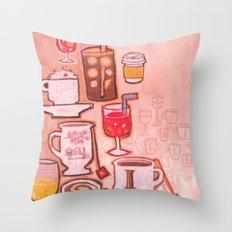 Drinks Throw Pillow