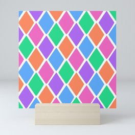 Bright Diamond Pattern Mini Art Print