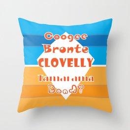 Coogee - Bronte - Clovelly - Tamarama - Bondi Throw Pillow