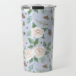 Roses, Moths and Ladybirds Travel Mug