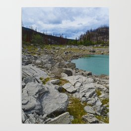 Medicine Lake in Jasper National Park, Canada Poster