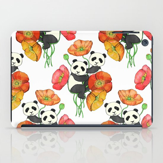 Poppies & Pandas iPad Case