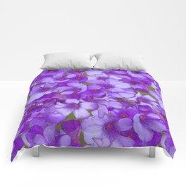 Purple Oxalis Comforters