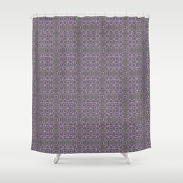 Digital Chip Inspired Quilted Designs Shower Curtain