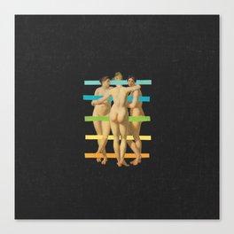 Les Trois Graces Canvas Print