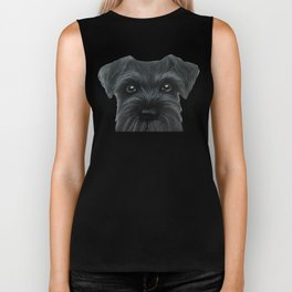 New Black Schnauzer, Dog illustration original painting print Biker Tank