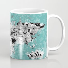 World map landmark collage Coffee Mug