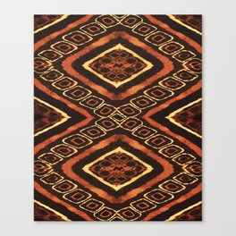 Tribal Batik Canvas Print