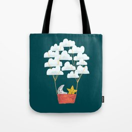 Hot cloud baloon - moon and star Tote Bag