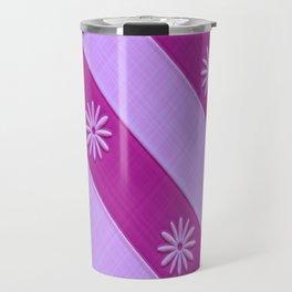 Pink and Purple  Daisy Pattern Travel Mug